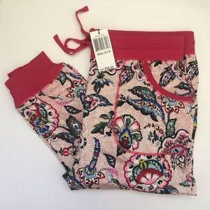 Vera Bradley Stitched Flowers Pajama Pant